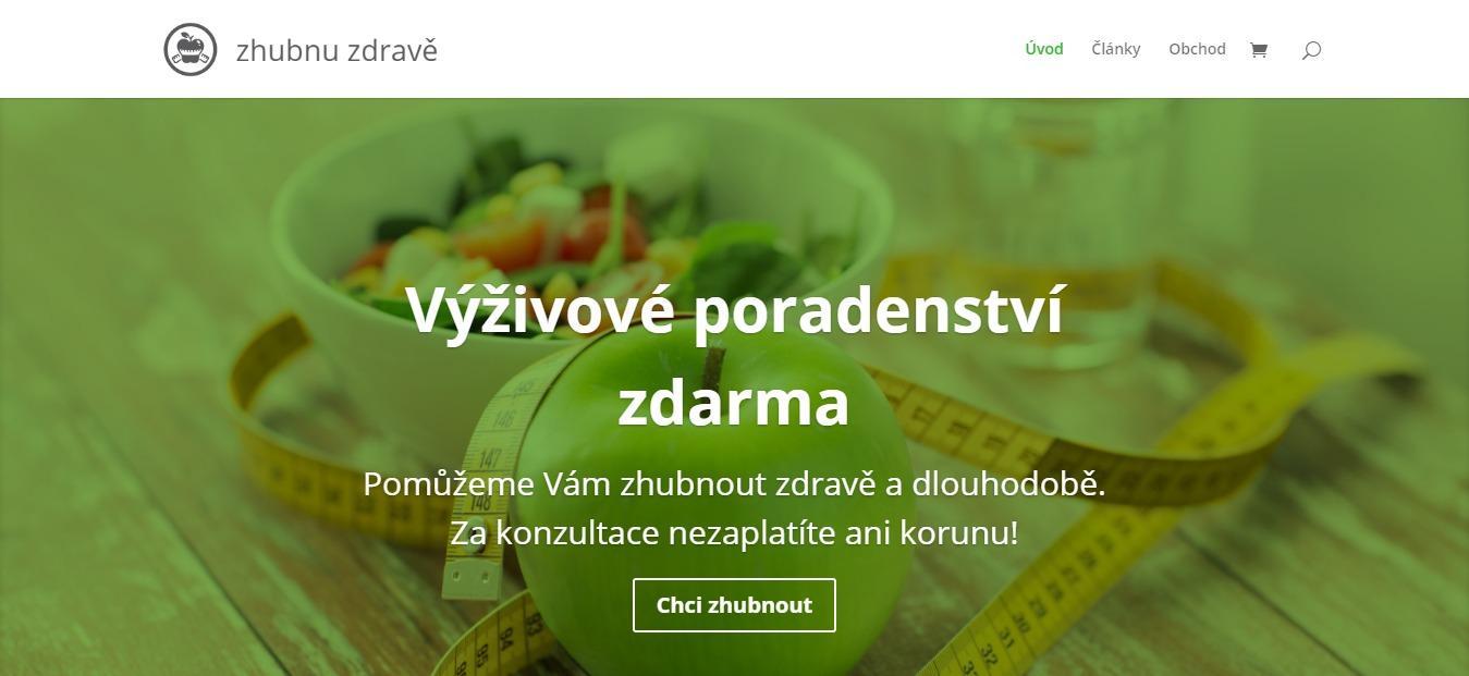 Tvorba webu pro ZhubnuZdravě.cz