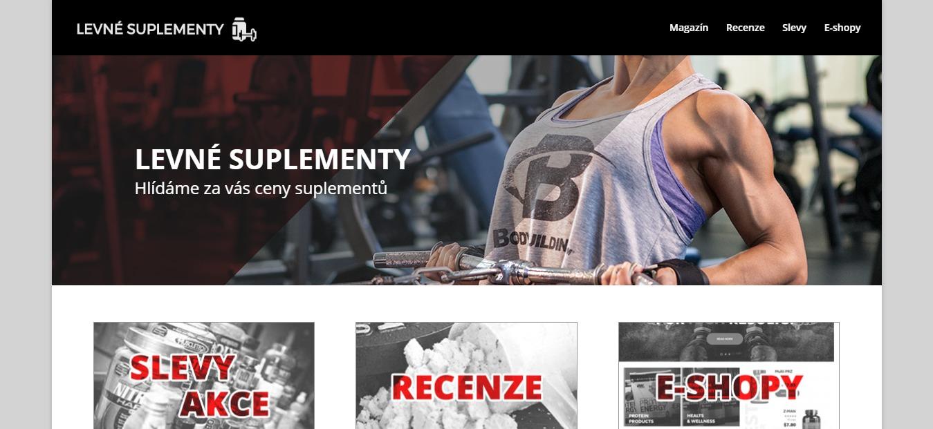 Tvorba webu pro LevnéSuplementy.cz