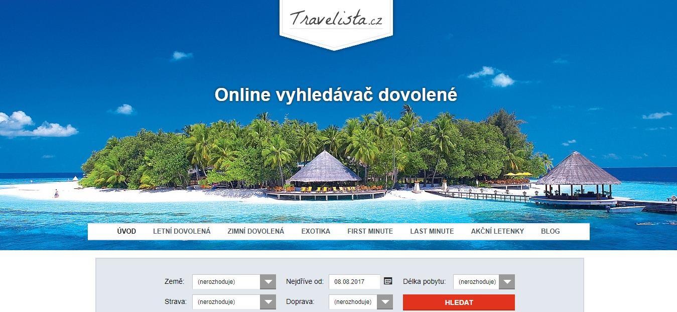 Tvorba webu pro Travelista.cz